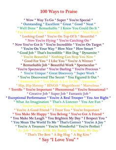 CelticMommy: 100 Ways to Praise Your Child