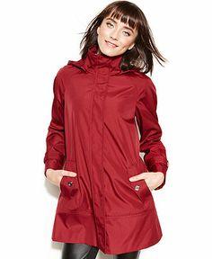 Calvin Klein Hooded Raincoat - Coats - Women - Macy's