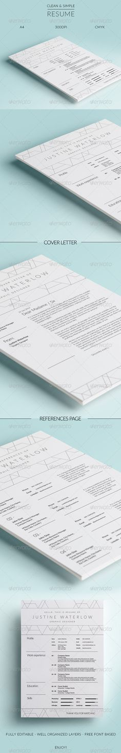 Bloom Resume Icon set, Stationery templates and Fonts - reference on resume