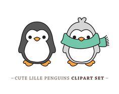 Premium Vector Penguin Clip Art Cute by LookLookPrettyPaper