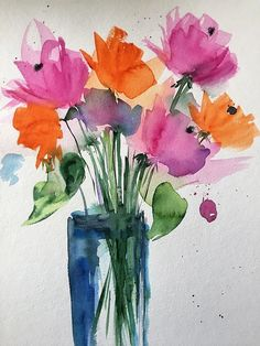colorful Flowers Art Print by Britta Zehm. All prints are professionally printed, packaged, and shipped within 3 - 4 business days. Choose from multiple sizes and hundreds of frame and mat options.