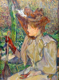 Woman with Gloves, Henri De Toulouse-Lautrec His works are so lovely in some area are so soft and sensitive and in other areas strong and bold which he combines perfectly when you closely study his work.