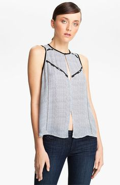 A.L.C. 'Hamilton' Print Embellished Silk Top available at #Nordstrom  435.00