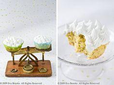 Tortini di polenta al limone con semi di papavero e glassa al limone, senza glutine