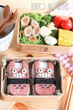 Totoro Spam Musubi   Bento Monsters