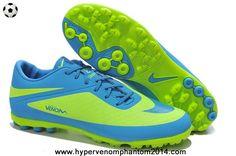 2014 Fluorescent Green/Blue Nike Hypervenom Phelon TF Jnr Boots 2014 Boots