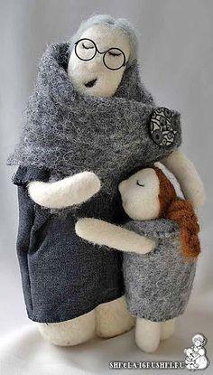 Felted doll by Mirra Little, http://www.livemaster.ru/item/538835-kukly-igrushki-spyaschaya
