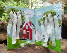 Debra Hensley using the Pop it Ups House Pivot Card and All Seasons Tree dies by Karen Burniston for Elizabeth Craft Designs.