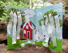 Debra Hensley using the Pop it Ups House Pivot Card and All Seasons Tree dies by Karen Burniston for Elizabeth Craft Designs.