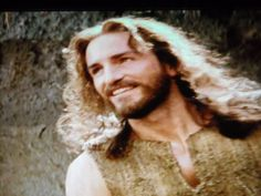 """A young smiling Jesus. From the movie """"The Passion of The Christ"""""""