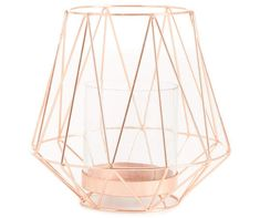 Rose Gold Geometric Wire Candle Holder at Big Lots. Room Decor Bedroom Rose Gold, Rose Gold Rooms, Rose Gold Decor, Bedroom Ideas, Pink Room, Diy Bedroom, Rose Gold Candle Holder, Geometric Candle Holder, Yellow Home Accessories