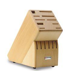 MESSERBLOCK - Buche - Gut geschützt und immer griffbereit bewahren Sie Ihre Messer im Holzblock auf. Ein Blickfang in jeder Küche. Aus hochwertiger Buche. Leer. Für 16 Teile.