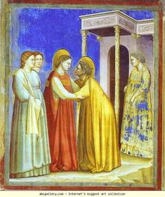 Giotto. The Visitation. 1302-1305. Fresco. Capella degli Scrovegni, Padua, Italy.