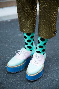 to try ???? green dotted socks ...................
