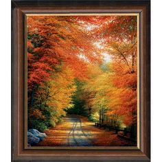Autumn in New England by Charles White: 21 x 25 Open Edition Framed Giclee on Canvas