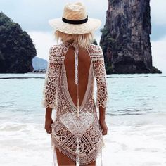 Sexy Women Lace Crochet Bikini Cover Up Swimwear Bathing Suit Summer Beach Dress | Clothing, Shoes & Accessories, Women's Clothing, Swimwear | eBay!
