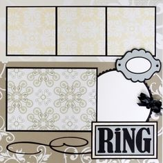 Wedding Scrapbook Photo Pages With This Ring