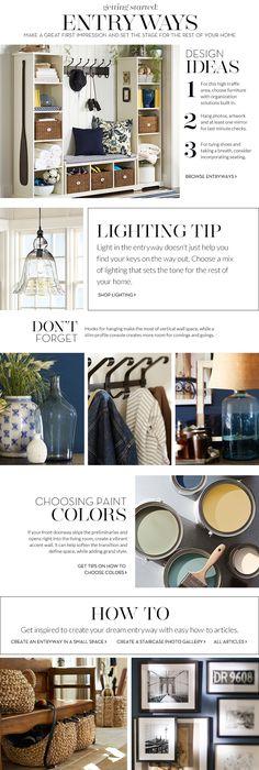 Entryway Decorating Ideas & Entryway Design Ideas   Pottery Barn