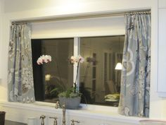 cute window treatment for a small window