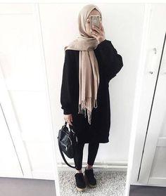 Fashion hijab hijab fashion in 2019 хиджаб шик, мода на хиджабы, Muslim Fashion, Modest Fashion, Hijab Fashion, Trendy Fashion, Fashion Outfits, Fashion Wear, Fashion Black, Fashion Fashion, Autumn Fashion