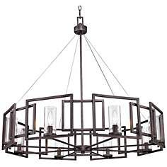 "Marco Collection 35 1/2"" Wide Gunmetal Bronze Pendant"