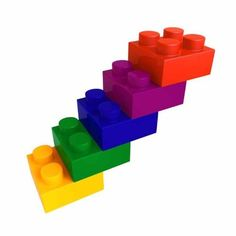 """Lego Color Block Stair - 24""""H x 24""""W - Peel and Stick Wall Decal by Wallmonkeys by Wallmonkeys Wall Decals, http://www.amazon.com/dp/B007K4IARE/ref=cm_sw_r_pi_dp_S8Xbrb0MKM0JQ"""