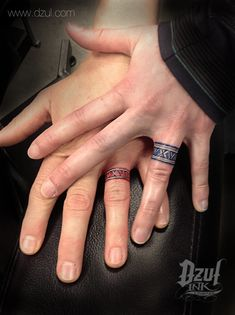Wedding ring color tattoo - Jacob  Couples tattoos Ring tattoo Finger tattoo Color tattoos Matching tattoos Sentimental tattoos