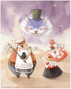 Alice in Wonderland illustration by Kim Min Ji