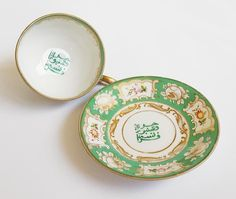19th Century RUSSIAN GARDNER Porcelain CUP & SAUCER - MIDDLE EASTERN MARKET