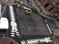 Intervenção na faixa de pedestre | Paul Bertholet + Graham Coreil Allen | http://www.bimbon.com.br/projeto/intervencao_na_faixa_de_pedestre  #walk #streets #intervention #art