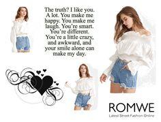 """Romwe logo"" by adna-257 ❤ liked on Polyvore"
