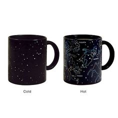 The Constellation Mug reveals constellations when it is hot