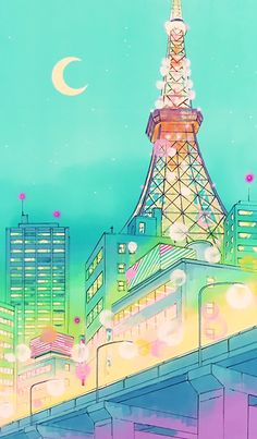 """serenity-ojo: """" Tokyo Tower- the building which stuck out in my childhood from watching """"Sailor Moon"""". Finally visited the tower after college graduation. But Tokyo Tower was still marvelous as it was. Sailor Moon Fond, Arte Sailor Moon, Sailor Moon Crystal, Sailor Moon Background, Sailor Moon Wallpaper, Sailor Scouts, Sailor Moon Aesthetic, Aesthetic Anime, Cute Wallpapers"""