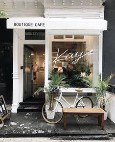 Cafe Shop Design, Cafe Interior Design, Store Design, Store Front Design, Small Cafe Design, Interior Shop, Brewery Interior, French Interior, Scandinavian Interior