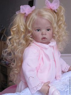 Купить кукла реборн ТИББИ (3) - бледно-розовый, кукла реборн, кукла ручной работы