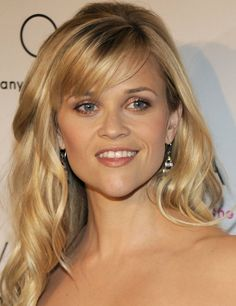 Reese Witherspoon With Side Swept Bangs