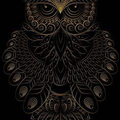 Owl Wallpaper Iphone, Dark Wallpaper, Owl Tattoo Drawings, Art Drawings, Tattoo Art, Fantasy Kunst, Fantasy Art, Art Buddha, Owl Artwork