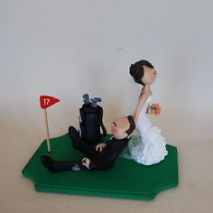 Golf wedding cake topper by maraluiza on Etsy, $150.00 cake-toppers ...