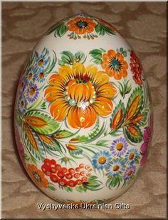 Ukrainian Petrykivka Egg Pysanka