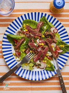 Steak is one of our favourite quick and easy dinners, and we've used flat steaks in this Balsamic Steak and Feta Salad for a meal in minutes!