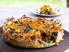 Potato crusted veg tart Humble Potato, Family Meals, Lasagna, Tart, Easy Meals, Challenge, Potatoes, Ethnic Recipes, Blog