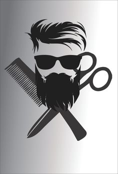 Barber Shop Interior, Barber Shop Decor, Salon Interior Design, Beauty Salon Interior, Salon Design, Barber Poster, Barber Logo, Beard Logo, Beard Tattoo