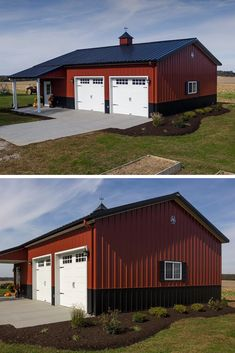 Steel homes are on their uptrend currently, because they have long life time, are very durable, fast to built and eye-catching too! Metal Barn Homes, Metal Building Homes, Building A House, Residential Steel Buildings, Metal Buildings, Steel Frame House, Steel House, Garage With Living Quarters, Metal Garages