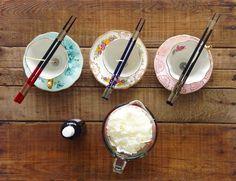 DIY Teacup Candle - set up