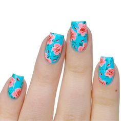 I just love rose designs so much  The tutorial for this mani is up now on the…