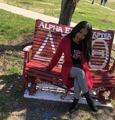 College Graduation Pictures, Delta Sigma Theta, Outfit Styles, Sorority And Fraternity, Magic Art, Greek Life, The Only Way, Black Girl Magic, Red Velvet