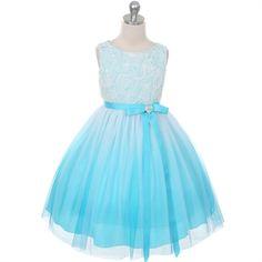 Ombre rosette dress