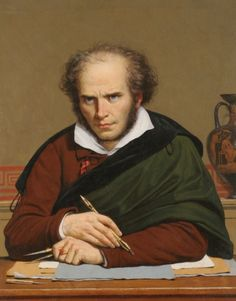 Portrait of the painter Girodet (1853) by  Paul Carpentier