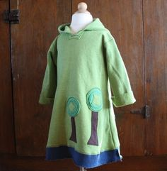 Earth Day Organic Tree Hugger Hoodie Long by handfull on Etsy, $67.00