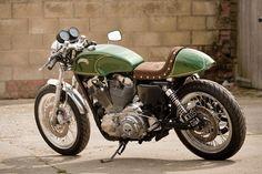 Harley Davidson Cafe Racer › Brown Green Custom Theme Harley Davidson Cafe Racer-SR